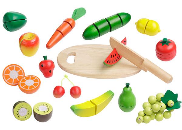 Holzgemüse zum spielerischen Kennenlernen von Gemüse
