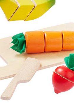 Obst und Gemüse aus Holz
