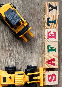 Holzblöcke Buchstaben schreiben Safety