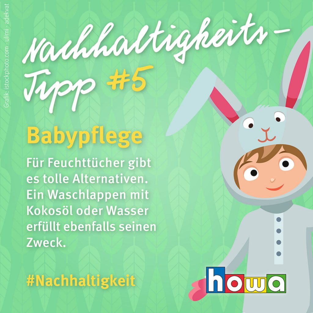 Nachhaltigkeits-Tipp Babypflege