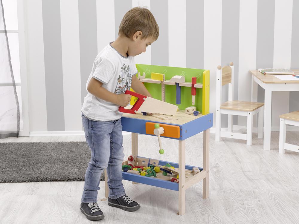 Leben in die Bude bringen Rollenspiel Kinderwerkbank aus Holz