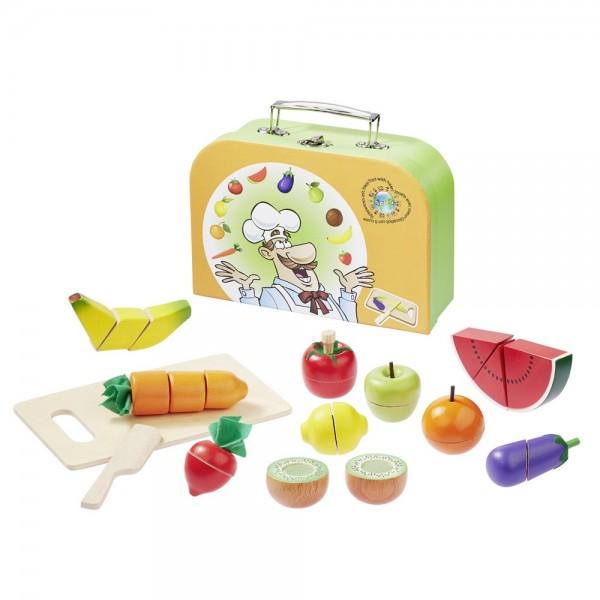 Schneideset Obst und Gemüse im Koffer 4874