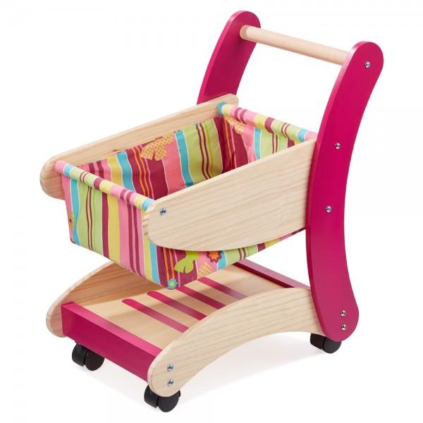 howa Einkaufswagen für Kinder aus Holz natur / bunt