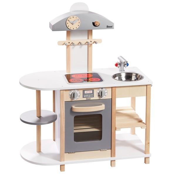 Spielküche Deluxe aus Holz mit LED Kochfeld 48150