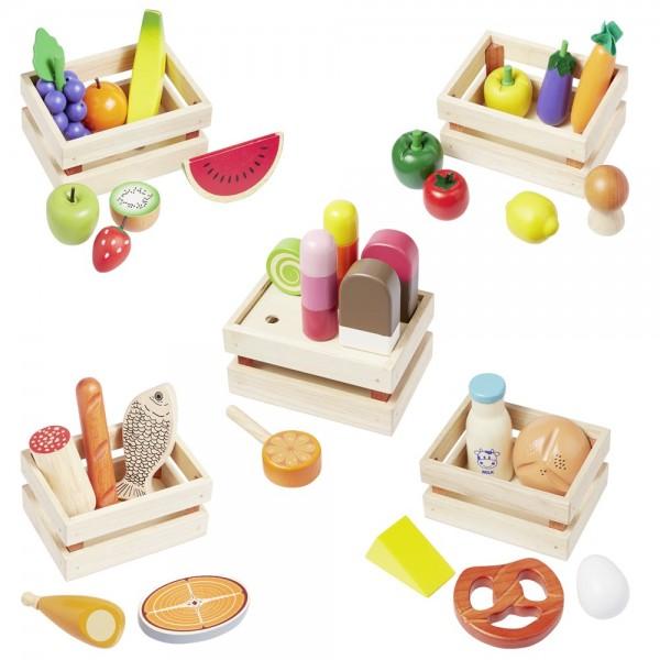 Kaufladenzubehör Gemüse, Obst, Backwaren, Eis uvm. 14876