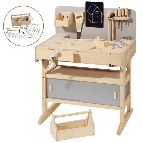 Werkbank incl. Werkzeugkiste mit Werkzeug 4900