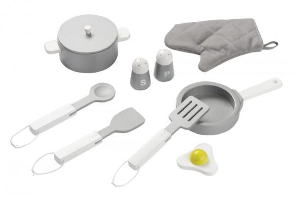 Küchenset weiß / edelstahlfarbig