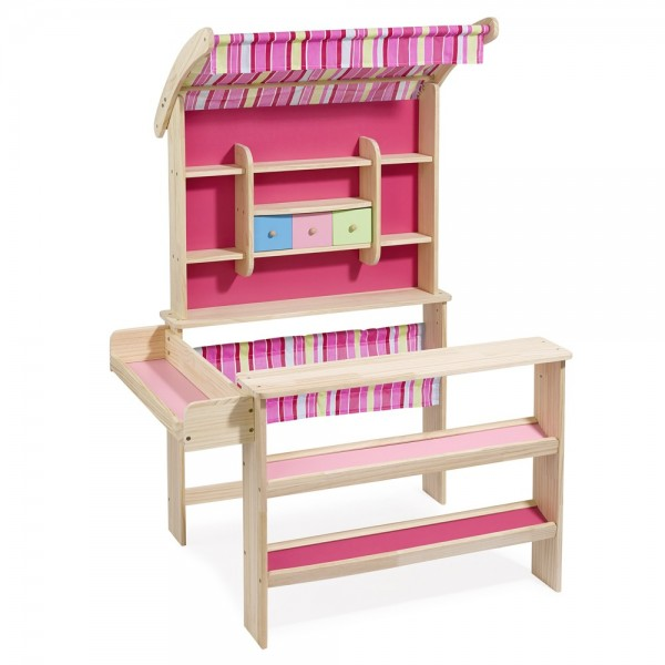 """Kaufladen """"Emma"""" mit Markise natur/pink 4746"""