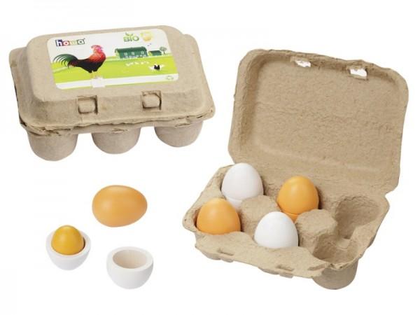 Eierset aus Holz 4864