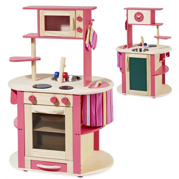 Spielküche natur/pink