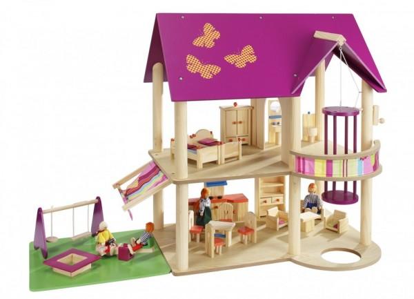Costruire Una Casa Delle Bambole Di Legno : Howa casa delle bambole in legno howa spielwaren
