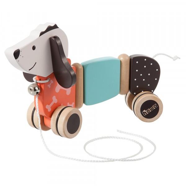"howa Nachziehtier Hund ""Fidi"" aus Holz 6015"