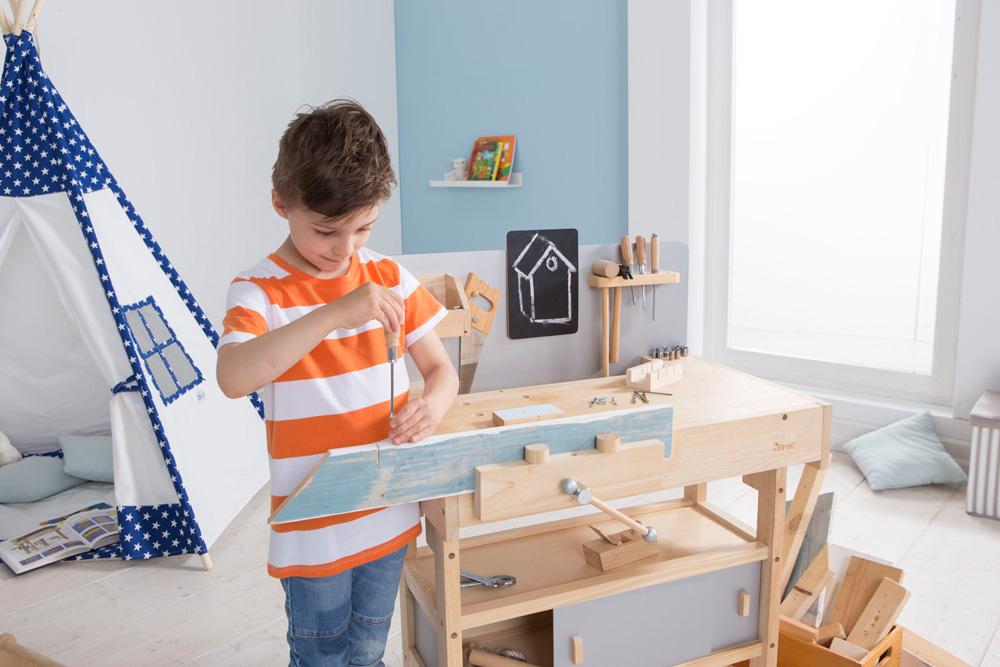 Howa Kinderwerkbank Holz Incl Werkzeugkiste 4900 Howa Spielwaren
